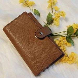COACH Leather Wristlet Phone Case
